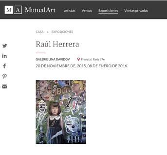 Raúl Herrera. Exposición pintura.