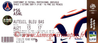 Ticket  PSG-Nancy  2008-09