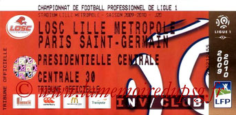 Ticket  Lille-PSG  2009-10