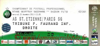 Ticket  Saint-Etienne-PSG  2011-12