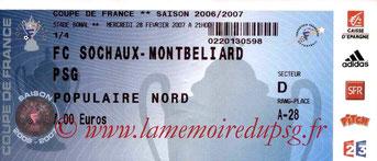 Ticket  Sochaux-PSG  2006-07
