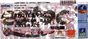 Ticket  Troyes-PSG  2005-06