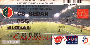 Ticket  Sedan-PSG  2001-02