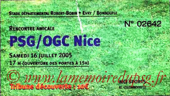 Ticket  PSG-Nice  2005-06