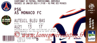 Ticket  PSG-Monaco  2009-10