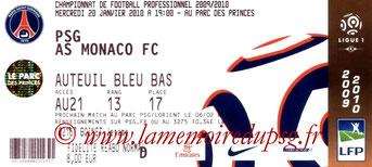 Ticket  PSG-Monaco  2009-10