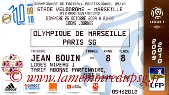Ticket  Marseille-PSG  2008-09