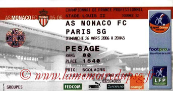Ticket  Monaco-PSG  2005-06