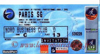 Ticket  Strasbourg-PSG  2005-06