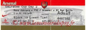 Ticket  Boca Junior-PSG  2011-12