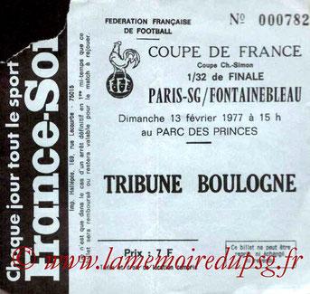 1977-02-13  PSG-Fontainebleau (32ème Finale CF au Parc des Princes)