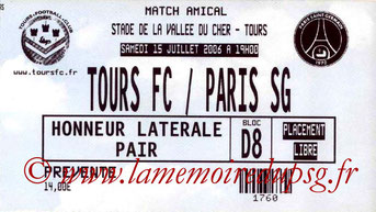 Ticket  Tours-PSG  2006-07