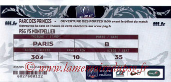 Ticket  PSG-Montpellier  2013-14