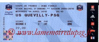Tickets  Quevilly-PSG  2009-10