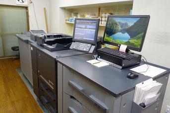 地域初導入の最新型デジタル印刷機