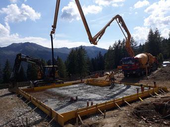 Wiederaufbau der Schönbergalm in Weissenbach 2018
