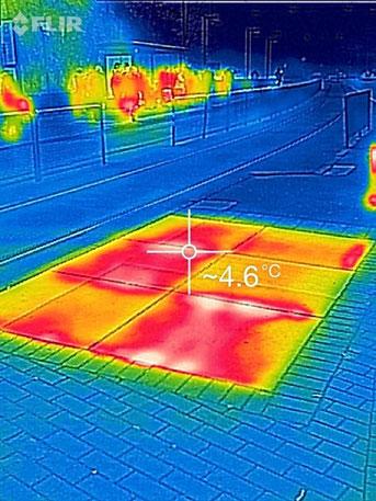 Värme i markyta, hållplats, Göteborg