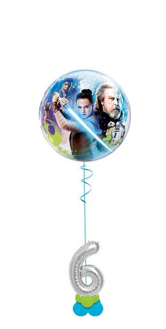 Ballon Luftballon Heliumballon Deko Dekoration Überraschung Mitbringsel Ballonpost Ballongruß Versand verschicken Helium Mädchen Junge  Happy Birthday Geschenk Idee Ballonpost Geburtstag Zahl Alter 1 2 3 4 5 6 7 8 9 Star Wars der letzte Jedi