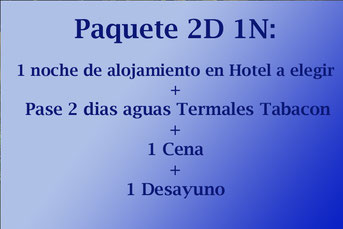 Paquete 2D 1N / Aguas Termales Tabacon