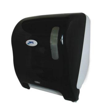 Despachador / Dispensador de toalla en rollo automático AG18510 Color: Humo con base blanca Dimensiones en milímetros: Alto: 366 Largo: 307 Ancho: 233 Capacidad: 1 rollo de 8'' / 20.3 cm Contenido por caja: 1 pieza