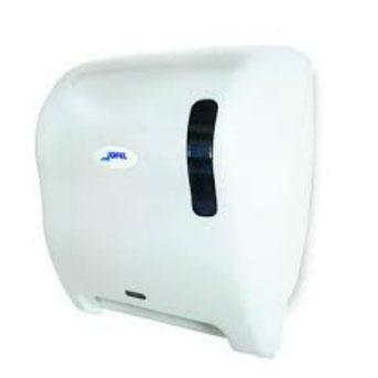 Despachador / Dispensador de toalla en rollo automático AG17510 Color: Blanco con base blanca Dimensiones en milímetros: Alto: 366 Largo: 307 Ancho: 233 Capacidad: 1 rollo de 8'' / 20.3 cm Contenido por caja: 1 pieza