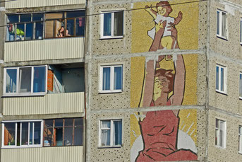 Plattenbau Russland Solnetschnogorsk