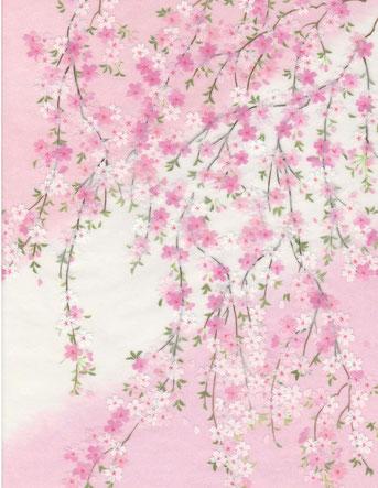 和紙絵・桜