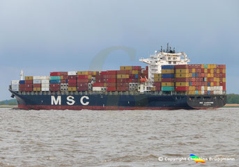 Containerschiff MSC LAUSANNE