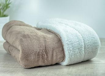 Matdox SHERPA-Fleece Decke braun