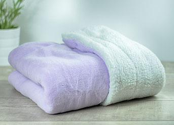 Matdox SHERPA-Fleece Decke flieder