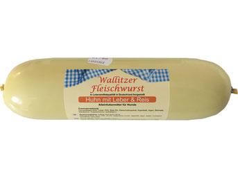 Wallitzer Fleischwurst Huhn mit Leber und Reis