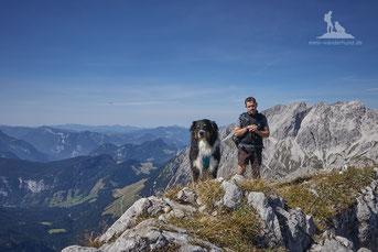 Wandern mit Hund, mein Wanderhund Ari, Andrea Obele, Bergwacht rettet Hund