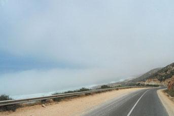 Nebel an der Küste bei Agadir
