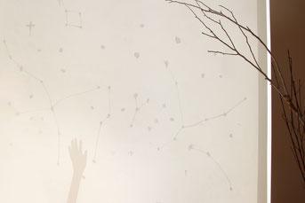 """日差しが強い日は、カーテンに移る""""星影""""もおもしろいよ◎"""