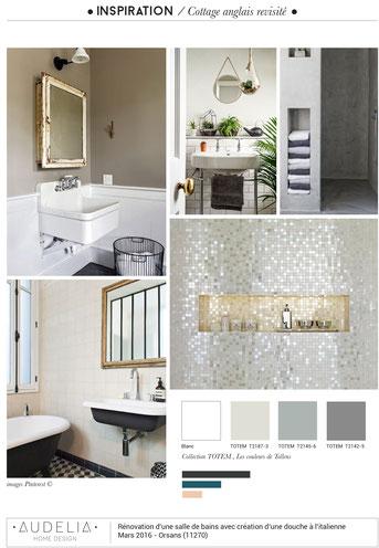 Salle de bains cottage anglais - Site de audelia-home-design !