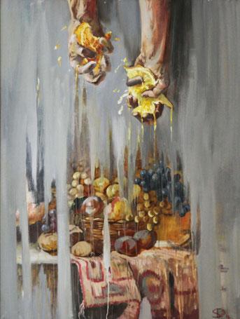 """Dolondutsky Alexandr, """"Erschaffung"""", Öl auf Leinwand, 90 x 120 cm, 2012 gerahmt"""