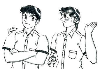 修平と健太郎(第8話 Marron Chocolate Time)