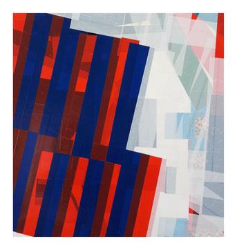 Travail de collage d'adhésif de l'artiste bordelais Laurent Valera
