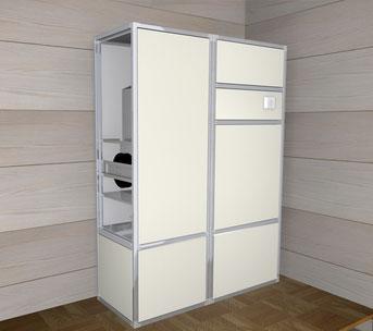 Unità di recupero calore per rinnovo aria in abbinato a macchina di condizionamento EAM