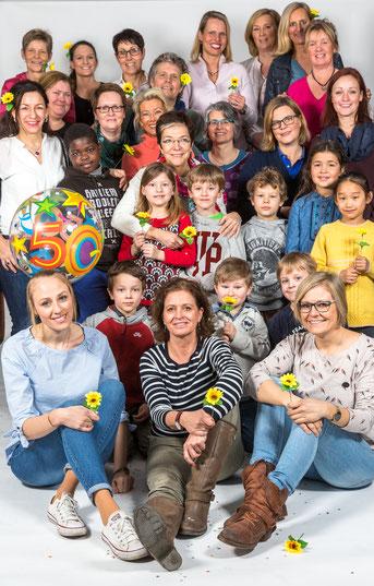 Das Gartenheimteam feiert das 50-jährige Bestehen ihrer Grundschule