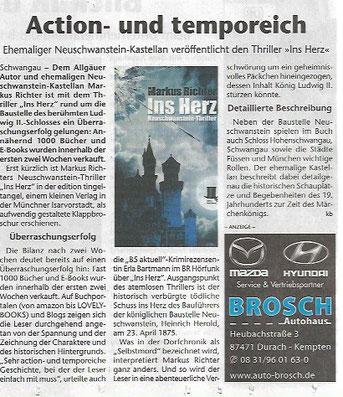 erschienen im Kreisbote Füssen - 25. Oktober 2017
