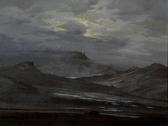 """Martin Guido Becker, """"Gebirgslandschaft"""", 2007,90/120 cm"""