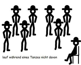 Line Dance Regel - lauf während eines Tanzes nicht davon