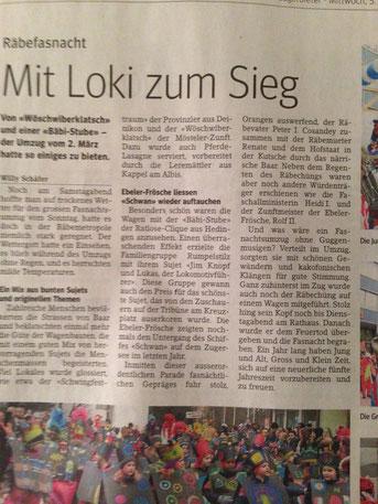 Zuger Presse Nr. 9 vom 5. März 2014