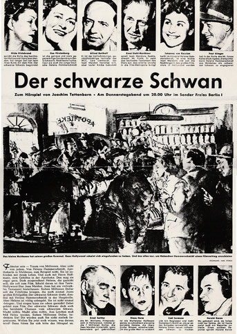 Große Besetzung im bekanntesten Hörspiel Tettenborns - Hilde Hildebrand, Johanna von Koczian, Paul Klinger u.a.  (Archiv Tettenborn)