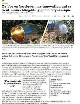 artículo vitisphère barrica de oro leclerc briant gd industries