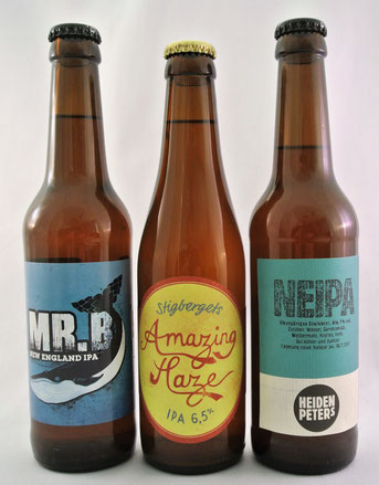 3er Set NEIPA: Mr. B, Amazing Haze und Heidenpeters NEIPA