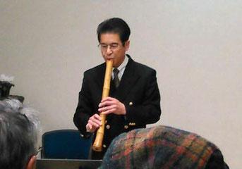 中村隆信 元・校長の尺八演奏。尺八での「アメイジング・グレイス」は他ではなかなか聞けません。