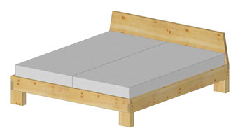 Möbel online, Doppelbett aus Massivholz