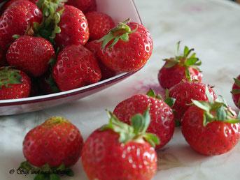 Erdbeere, Nachtisch mit Erdbeeren, Dessert,